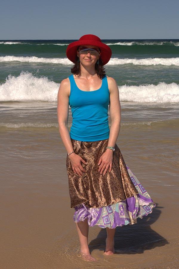 Bianca at the Beach